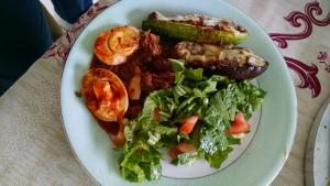 Lasanha de berinjela com ovos e salada nas pausas do Jejum Intermitente (low carb)