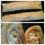 wraps de presunto com queijo e/ou bacon