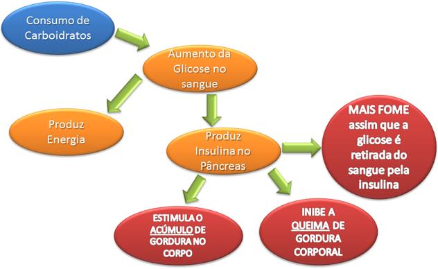 Os carboidratos aumentam a glicemia, que provoca picos de insulina. Estes picos provocam a fome e dificultam a prática do jejum intermitente
